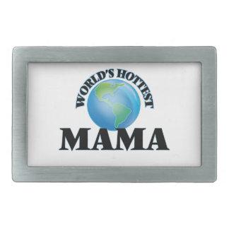 La maman la plus chaude du monde boucle de ceinture rectangulaire
