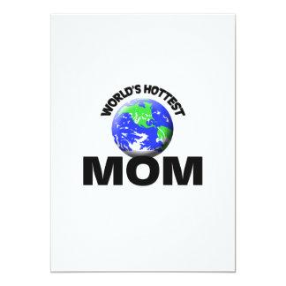 La maman la plus chaude du monde cartons d'invitation