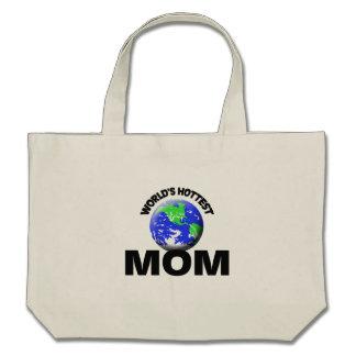 La maman la plus chaude du monde sac en toile