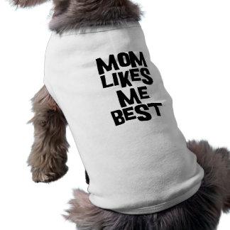 La maman m'aime meilleur t-shirt pour chien