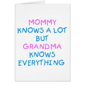 La maman sait beaucoup mais la grand-maman savent carte de vœux