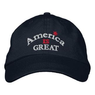 La marine Amérique est grand casquette réglable