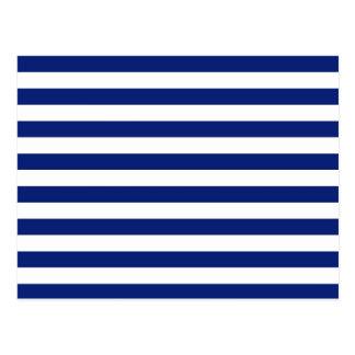 La marine barre le motif nautique cartes postales