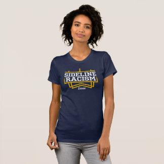 La marine/jaune des femmes de T-shirt de racisme