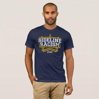 La marine/jaune des hommes de T-shirt de racisme