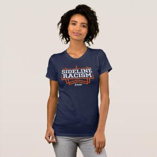 La marine/orange des femmes de T-shirt de racisme