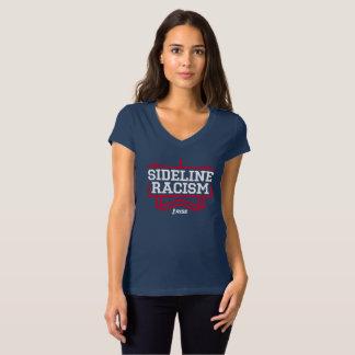 La marine/rouge des femmes de T-shirt de racisme