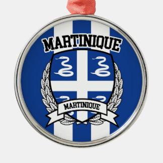 La Martinique Ornement Rond Argenté