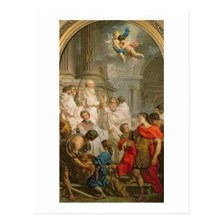 La masse de St Basil (huile sur la toile) Carte Postale