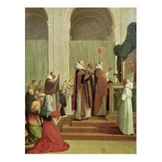 La masse de St Martin des visites, 1654 Carte Postale