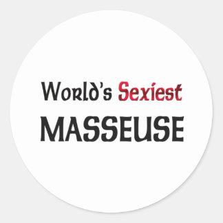 La masseuse la plus sexy du monde adhésifs