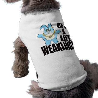 La mauvaise vie de petit pain de gringalet t-shirt pour chien
