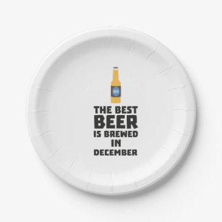 La meilleure bière est en décembre Zfq4u brassé Assiettes En Papier