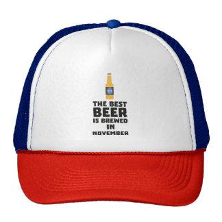 La meilleure bière est en novembre Zk446 brassé Casquette Trucker