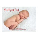 La meilleure carte de vacances de photo d'année carton d'invitation  12,7 cm x 17,78 cm