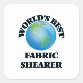La meilleure haveuse du tissu du monde sticker carré