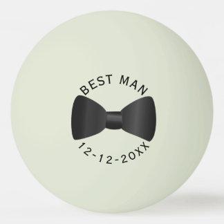 La meilleure lueur de mariage d'homme dans la balle tennis de table