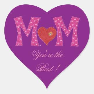 La meilleure maman, autocollants de pourpre de