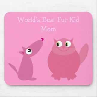 La meilleure maman d enfant de la fourrure du mond tapis de souris