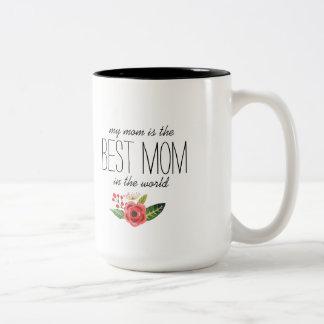 La meilleure maman dans le texte du monde et mug bicolore