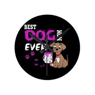 La meilleure maman de chien jamais horloge ronde