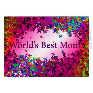 La meilleure maman du monde 2 carte de vœux