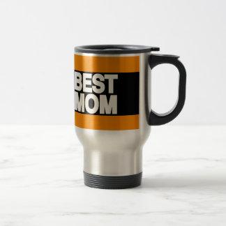 La meilleure orange d'atterrisseur de maman mug de voyage