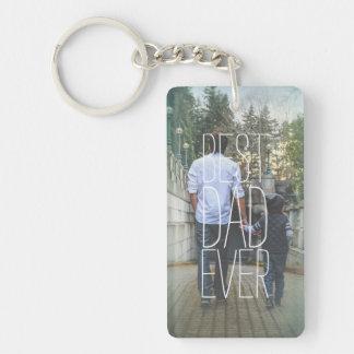 La meilleure photo de papa jamais moderne porte-clefs