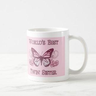 La meilleure soeur jumelle du monde (papillon) mug