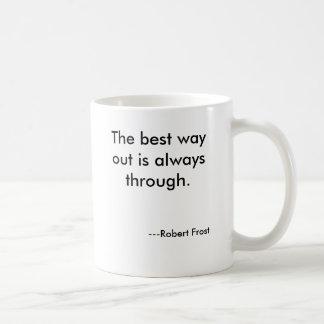 La meilleure sortie est toujours., ---Robert… Mug