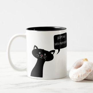 La meilleure tasse mignonne de chat du jour de