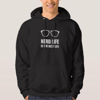 La meilleure vie de la vie nerd veste à capuche