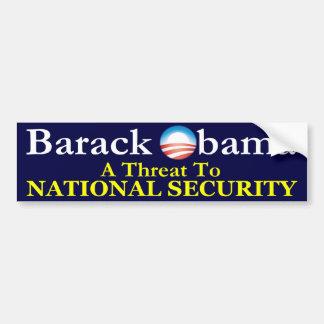 La menace de Barack Obama Autocollant De Voiture