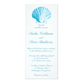 La mer de bleu d'océan écosse le faire-part de carton d'invitation  10,16 cm x 23,49 cm