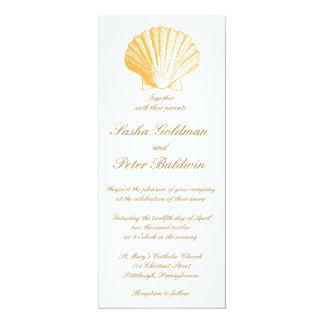 La mer d'or de sable écosse le faire-part de carton d'invitation  10,16 cm x 23,49 cm