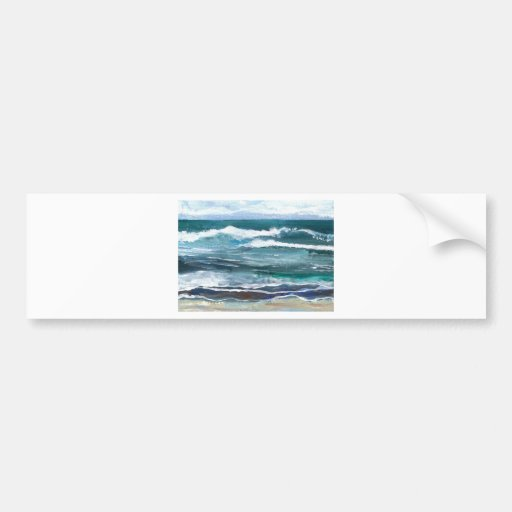 La mer du cricket - cadeaux de plage de ressacs adhésifs pour voiture