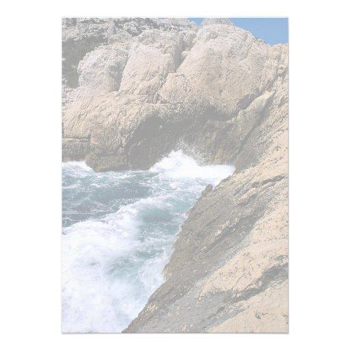 """La mer et les roches, les """"Calanques"""", Marseille,  Cartons D'invitation"""