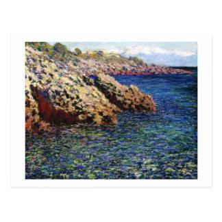 La mer Méditerranée (d'Antibes de casquette), 1888 Carte Postale