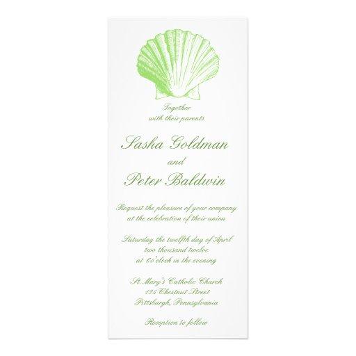 La mer verte en verre de mer pâle écosse le faire- invitations personnalisables