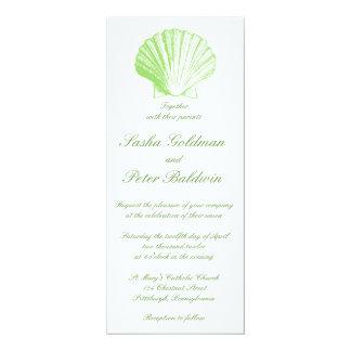 La mer verte en verre de mer pâle écosse le carton d'invitation  10,16 cm x 23,49 cm