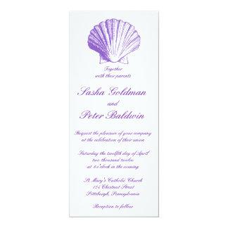 La mer violette écosse le faire-part de mariage