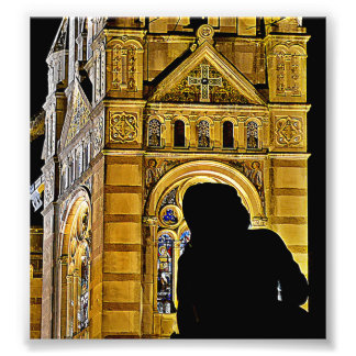 La mère de Jeanne d Arc prie près de Basilique du Photo Sur Toile