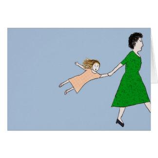 La mère est pressé carte de note