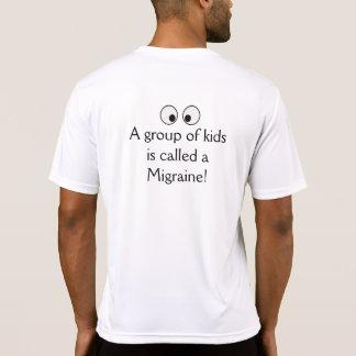 La migraine badine le T-shirt 2 de Tek de sport