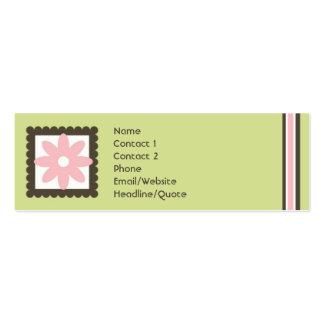 La mini marguerite maigre barre appeler/carte de carte de visite petit format