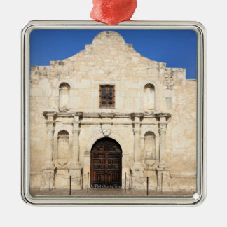 La mission d'Alamo dans le jour moderne San Ornement Carré Argenté