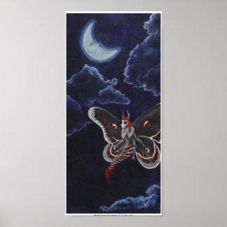 La mite aime l'affiche de lune posters