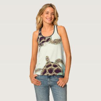 La mode des femmes de concepteur d'amour de tortue débardeur
