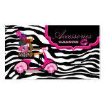 La mode pince des lèvres de zèbre de noir de roses cartes de visite personnelles