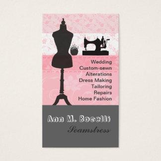 La mode vintage ouvre la couture florale rose cartes de visite